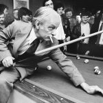 En tournée dans le comté de Jean-Talon lors des élections partielles de 1979, il prend plaisir à jouer au pool sous les yeux amusés de la candidate du PQ Louise Beaudoin et de son mari François Dorlot.