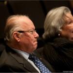 L'ancien Premier ministre du Québec, monsieur Bernard Landry et madame Gratia O'Leary, ancienne collaboratrice de René Lévesque.