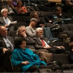 Une parie de l'auditoire, au premier plan, madame Jocelyne Ouellette, ancienne ministre.