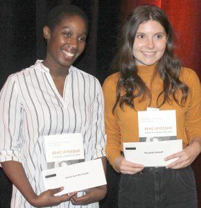 Dardia Joseph et Alexandra Hénault reçoivent Prix René-Lévesque de la presse étudiante